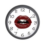 Luscious Lips Wall Clock
