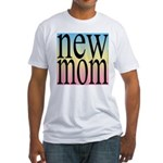109. new mom [rainbow back] Fitted T-Shirt