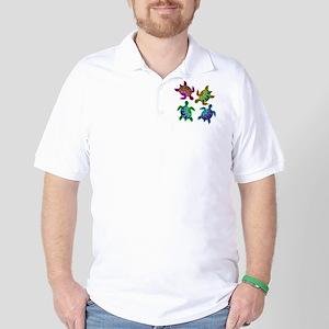 Multi Painted Turtles Golf Shirt