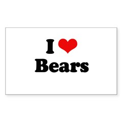 I love bears Rectangle Decal