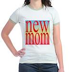 109 mom [ red rainbow bac Jr. Ringer T-Shirt
