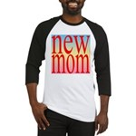 109 mom [ red rainbow bac Baseball Jersey
