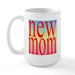 109 mom [ red rainbow bac Large Mug
