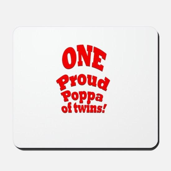 Proud Poppa of Twins Mousepad