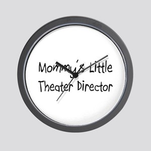 Mommy's Little Theater Director Wall Clock
