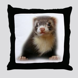 Young Ferret Throw Pillow