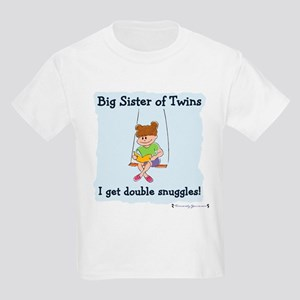 Big Sister of Twins Double Snuggles Kids T-Shirt