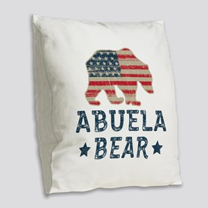USA Abuela Burlap Throw Pillow