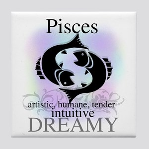 Pisces the Fish Tile Coaster