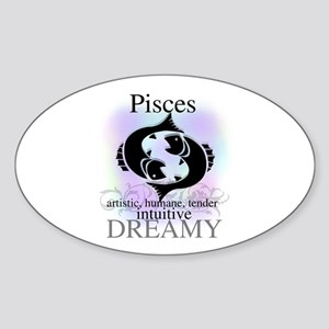 Pisces the Fish Oval Sticker