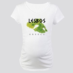 LESBOS GREECE Maternity T-Shirt