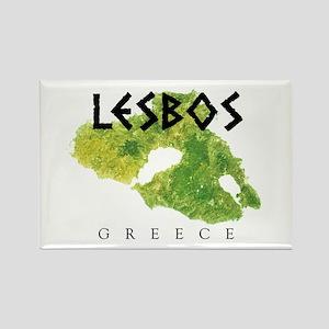 LESBOS GREECE Rectangle Magnet