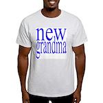 109a. new grandma[blue] Ash Grey T-Shirt