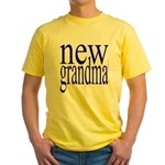 109a. new grandma[blue] Yellow T-Shirt