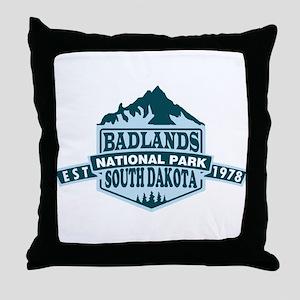 Badlands - South Dakota Throw Pillow