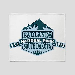 Badlands - South Dakota Throw Blanket