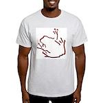 Simply Blakk Frogg Ash Grey T-Shirt
