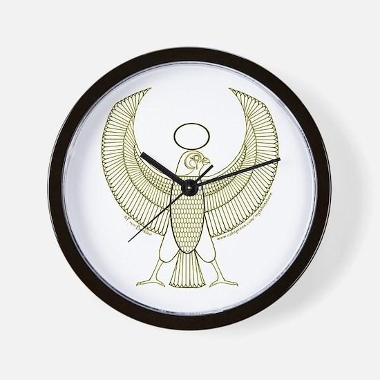 Egyptian Falcon Hieroglyphic Wall Clock