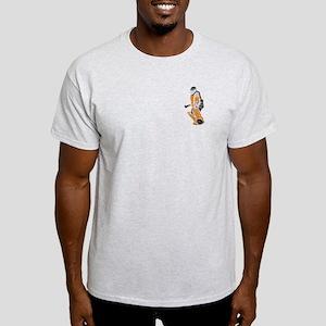 Hockey Goalie - Orange Ash Grey T-Shirt