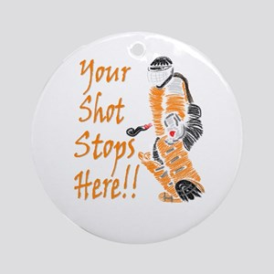Hockey Goalie - Orange Keepsake (Round)