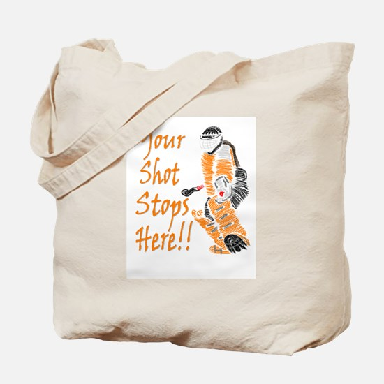 Hockey Goalie - Orange Tote Bag