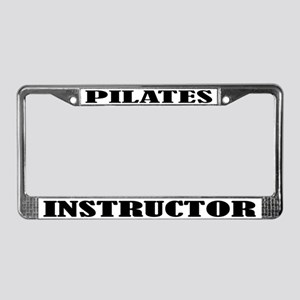 Pilates License Plate Frame