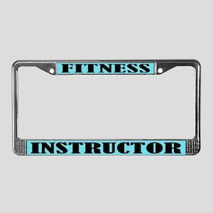 Fitness Instructor License Plate Frame