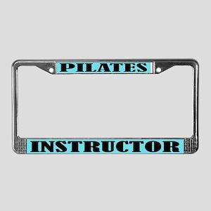 Pilates Instructor License Plate Frame