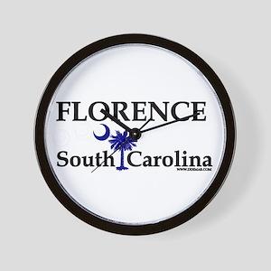 Florence South Carolina Wall Clock