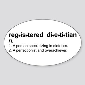 Registered Dietitian Oval Sticker (10 pk)