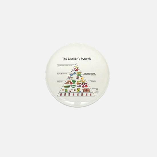 Dietitian's Pyramid Mini Button