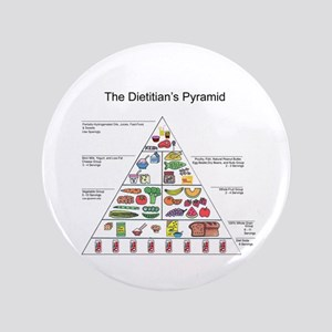 "Dietitian's Pyramid 3.5"" Button"
