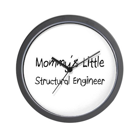 Mommy's Little Structural Engineer Wall Clock