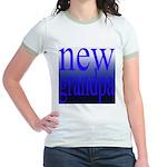 108a. new grandpa [blue grade Jr. Ringer T-Shirt