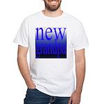 108a. new grandpa [blue grade White T-Shirt