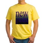 108a. new grandpa [blue grade Yellow T-Shirt