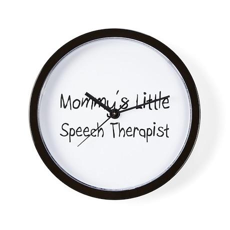 Mommy's Little Speech Therapist Wall Clock