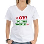 Oy To the World Women's V-Neck T-Shirt