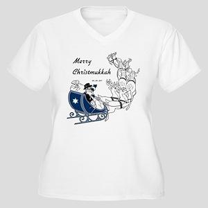 Merry Christmukkah Women's Plus Size V-Neck T-Shir