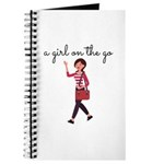 A Girl On The Go Journal Notebook