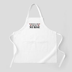 Feel Safe Sleep with a Nurse BBQ Apron