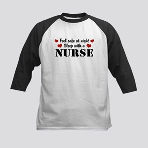 Feel Safe Sleep with a Nurse Kids Baseball Jersey
