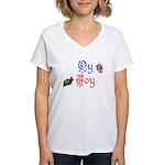 Oy Joy Women's V-Neck T-Shirt