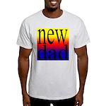 108 dad rainbow back Ash Grey T-Shirt