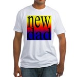 108 dad rainbow back Fitted T-Shirt