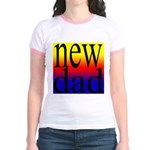 108 dad rainbow back Jr. Ringer T-Shirt
