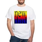 108 dad rainbow back White T-Shirt