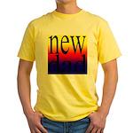 108 dad rainbow back Yellow T-Shirt