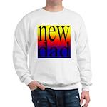 108 dad rainbow back Sweatshirt