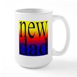 108 dad rainbow back Large Mug